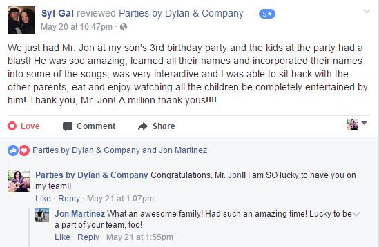 Mr. Jon Facebook Review