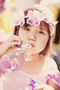 Blowing Bubbles and Playing Dress-Up